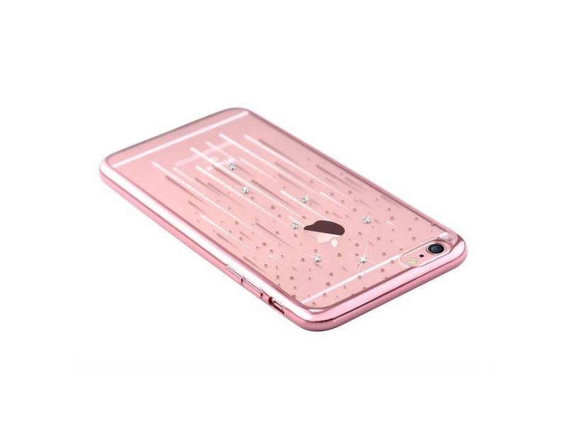 Pouzdro Crystal (Swarovski) Meteor iPhone 6 6S rose gold - shopcom.cz e6e13d8c08e