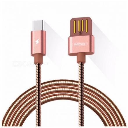 Datový kabel Remax RC-080a Serpent Type C růžovo-zlatý 2,1A 01190