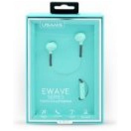 Sluchátka USAMS Ewave Series HSYL03  3,5mm stereo modrá        14042