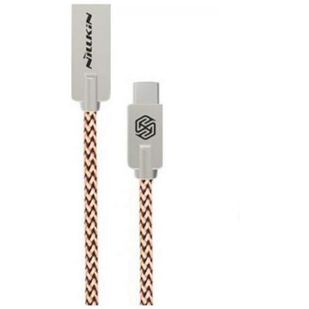Kabel Nillkin Chic s USB Type-C konektorem pro mobilní telefon, mobil, smartphone, tablet zlatý 21379