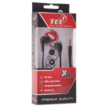 Handsfree Tel1 PRESTIGE MP3, STEREO, černá