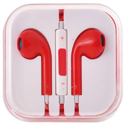 Handsfree/sluchátka univerzální MEGA BASS, červená HQ 29479