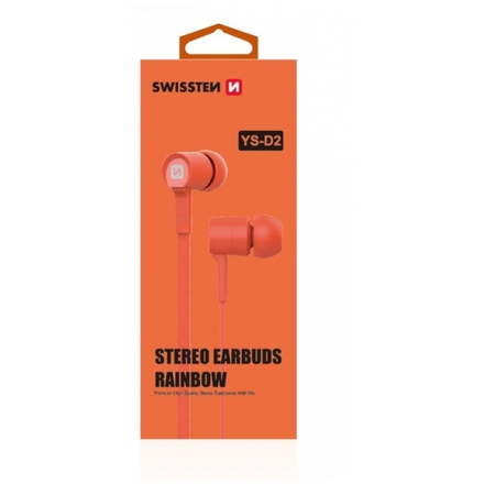Sluchátka Swissten YS-D2 oranžová