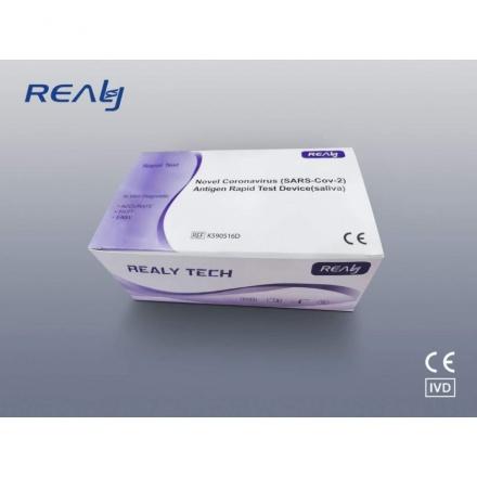 Realy Tech antigenní test ze slin na SARS-CoV-2/Covid-19/Koronavirus, (20ks v balení)