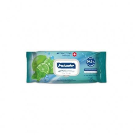 Freshmaker Antibakteriální vlhčené ubrousky limetka 120ks