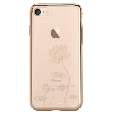 Pouzdro Crystal (Swarovski) Lotus iPhone 7 champagne gold