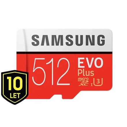 Micro SDXC 512GB Samsung EVO Plus + SD adaptér, MB-MC512GA/EU
