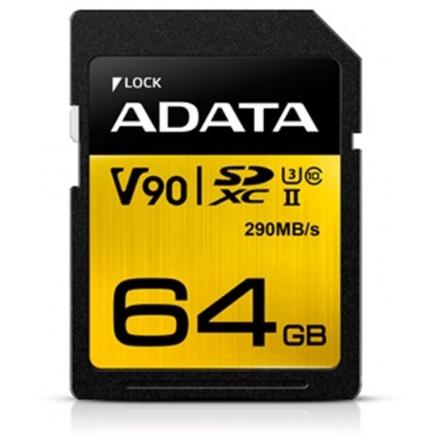 ADATA SDXC 64GB UHS-II U3 (290/260MB), ASDX64GUII3CL10-C