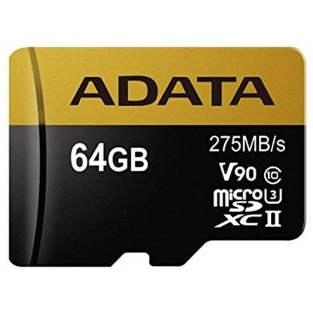 ADATA 64GB MicroSDXC UHS-II U3 s adapterem, AUSDX64GUII3CL10-CA1