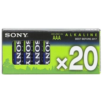 SONY Alkalické baterie AM4M20X, 20ks LR2/AAA, Stamina Plus, AM4-M20X