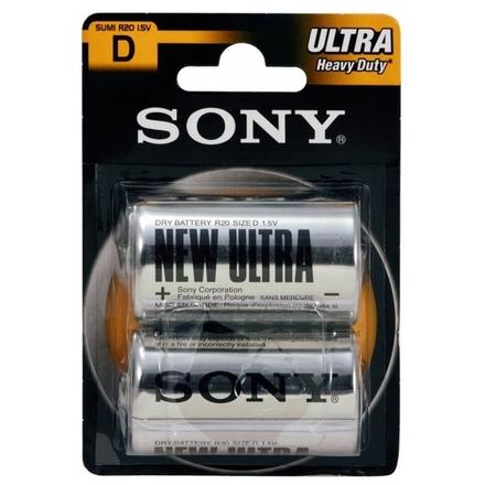 SONY Baterie SUM1NUB2A, 2ks R20/D ULTRA, SUM1NUB2A