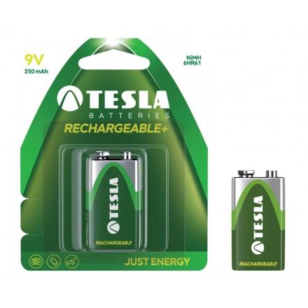TESLA - baterie 9V RECHARGEABLE+ , 1ks, 6HR61, 1099137130
