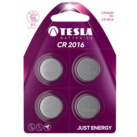 TESLA - baterie TESLA CR2016, 4ks, CR2016, 1099137154
