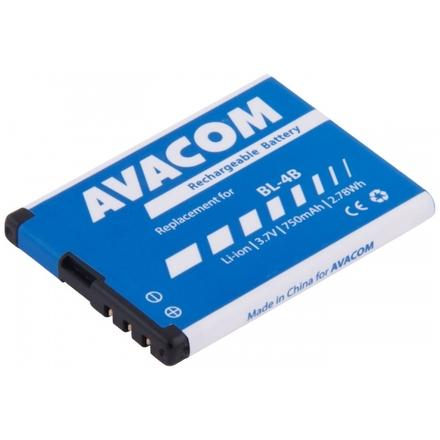 Baterie AVACOM GSNO-BL4B-S750 do mobilu Nokia 6111 Li-Ion 3,7V 750mAh (náhrada BL-4B), GSNO-BL4B-S750