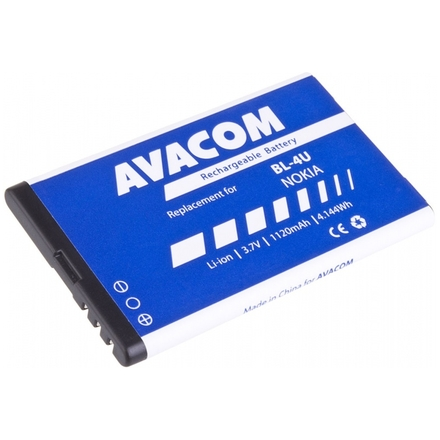 Baterie AVACOM GSNO-BL4U-S1120A do mobilu Nokia 5530, E66, 5530, E75, 5730, Li-Ion 3,7V 1120mAh, GSNO-BL4U-S1120A