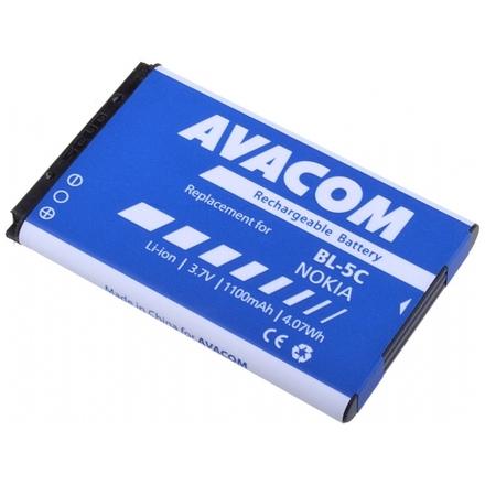 Baterie AVACOM GSNO-BL5C-S1100A do mobilu Nokia 6230, N70, Li-Ion 3,7V 1100mAh (náhrada BL-5C), GSNO-BL5C-S1100A