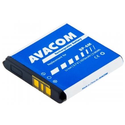 Baterie AVACOM GSNO-BP6M-S1070 do mobilu Nokia 6233, 9300, N73 Li-Ion 3,7V 1070mAh (náhrada BP-6M), GSNO-BP6M-S1070