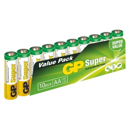 Gp Baterie GP Super Alkaline 10ks AA, 1013200102