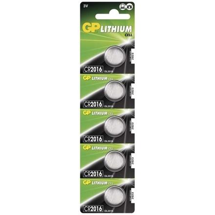 Gp Baterie Lithiová baterie GP CR2016 - 5ks, 1042201615