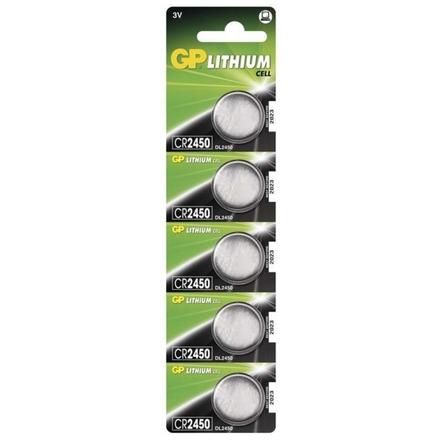 Gp Baterie Lithiová baterie GP CR2450 - 5ks, 1042245015