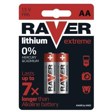 Gp Baterie Lithiová baterie RAVER 2x AA, 1321212000