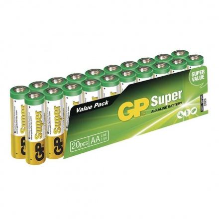 Gp Baterie GP SUPER ALKALINE BATTERY AA (LR6) - 20KS, 1013200210