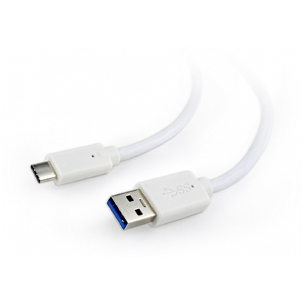 Gembird Kabel USB 3.0 AM na USB-C (AM/CM), 1,8m, bílý, CCP-USB3-AMCM-6-W