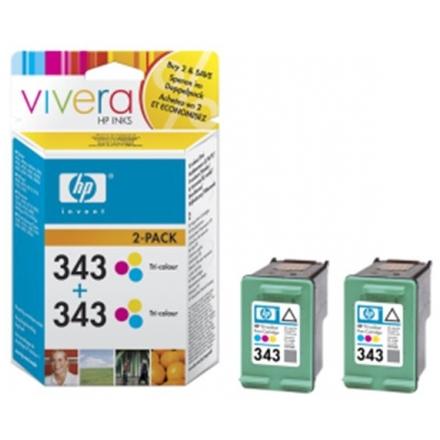 HP no. 343 - 3 barevná ink. kazeta, 2-pack,CB332EE, CB332EE