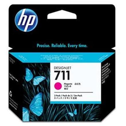 HP no 711 - purpurová ink. kazeta - 3pack, CZ135A, CZ135A