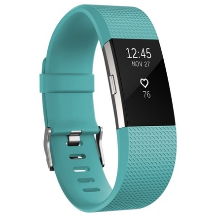 Fitbit Charge 2 Teal Silver  - Large, FB407STEL-EU