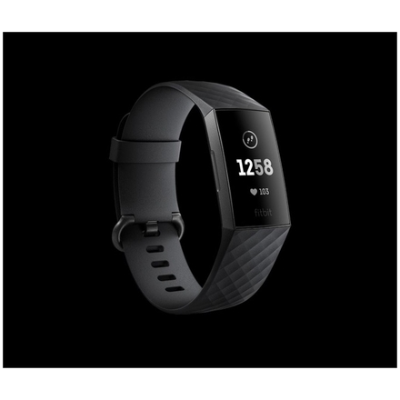 Fitbit Charge 3 - Graphite / Black, FB409GMBK-EU