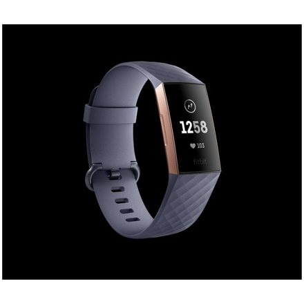 Fitbit Charge 3 - Rose Gold / Blue Grey, FB409RGGY-EU