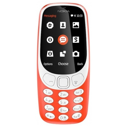 Nokia 3310 Single SIM 2017 Red, A00028219