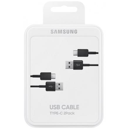 Samsung Kabel USB typ C 2ks Black, EP-DG930MBEGWW