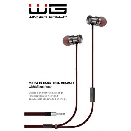 HF Stereo 3,5 mm jack Magnetické sluchátka (Černá)