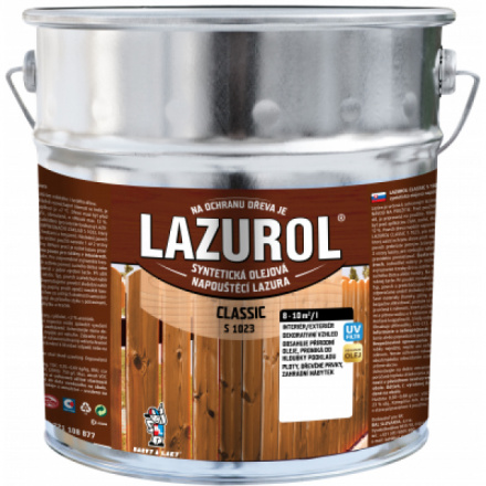 Lazurol Classic S1023 tenkovrstvá lazura na dřevo s obsahem olejů, 025 sipo, 9 l