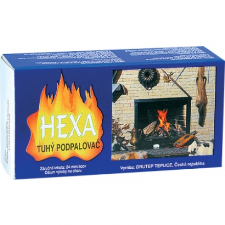 Hexa tuhý podpalovač, tuhý líh, kostky, 200 g