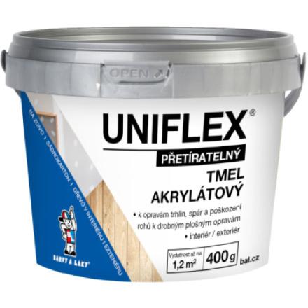 BARVY A LAKY HOSTIVAŘ Uniflex akrylátový tmel na zdivo, sádrokarton a dřevo, 400 g