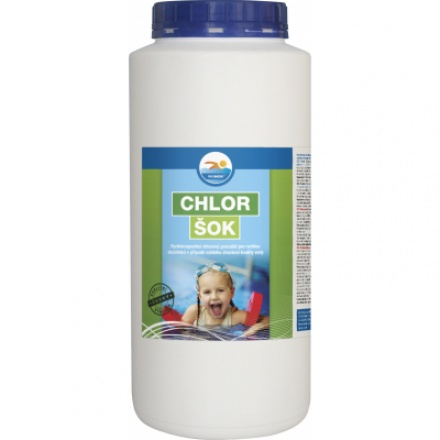 Probazen Chlor Šok k rychlé dezinfekci bazénu, 2,5 kg