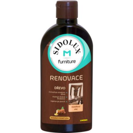Sidolux M Renovace Mandle mléko na nábytek, 300 ml