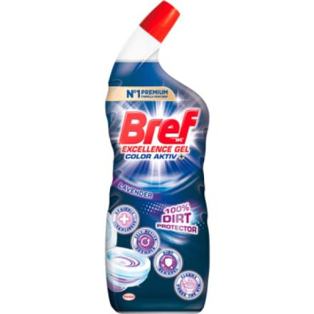 Bref 10× Effect Power Gel Protection Shield Lavender, tekutý WC čistič kompletní ochrana, 700 ml