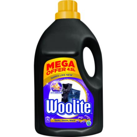Woolite Extra Dark Black, prací gel na barevné a černé prádlo, 4,5 l