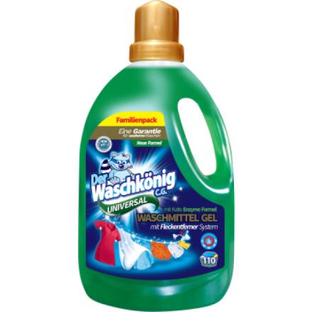 Waschkönig Universal prací gel na bílé i barevné prádlo, 94 dávek, 3,305 l