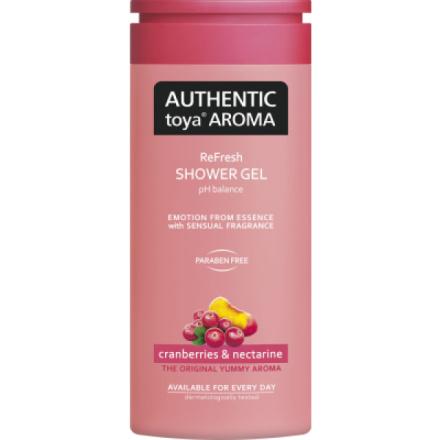 Authentic Toya Aroma cranberries & nectarine sprchový gel 400 ml