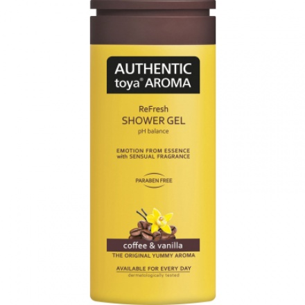 Authentic Toya Aroma Coffee & Vanilla sprchový gel 400 ml