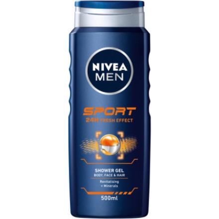 Nivea Men Sport, prchový gel pro muže, 500 ml