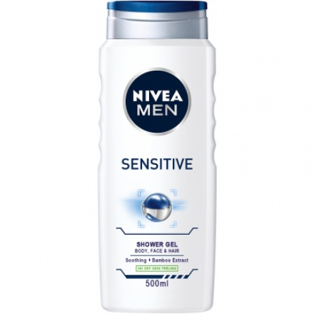 Nivea Men Sensitive, sprchový gel pro muže, 500 ml