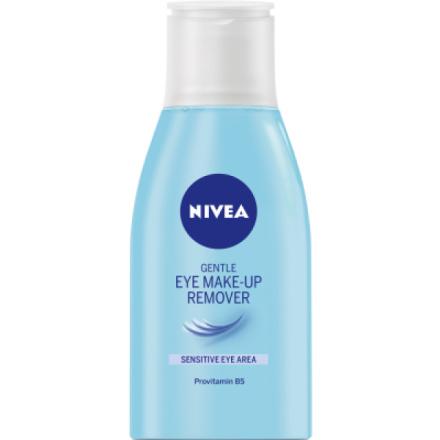 Nivea Gentle Eye Make-up Remover, jemný odličovač očí pro ženy, 125 ml