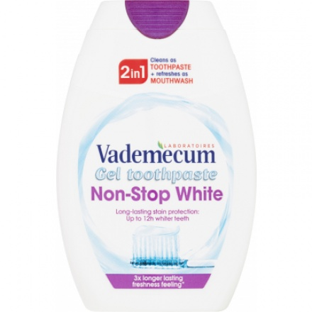 Vademecum 2in1 Non-Stop White zubní pasta, 75 ml