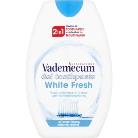 Vademecum 2in1 White Fresh zubní pasta a ústní voda, 75 ml